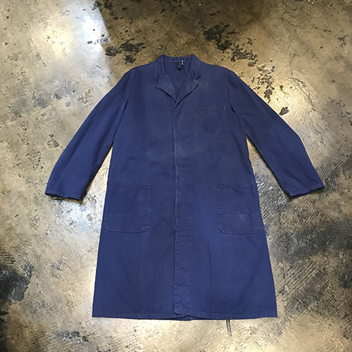 French Ink Blue Shop Coat